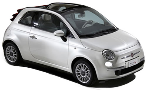 2010 Fiat 500c 2 Door 4 Seat Softtop Convertible Fiat Softtop
