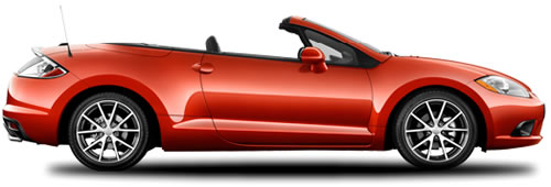 The 2010 Mitsubishi Eclipse Spyder Is A 2 Door Softtop Convertible Seating Maximum Of 4 Pengers With Price Starting At 27 799