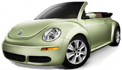 Volkswagen Beetle Green Convertible